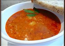 Gulášová polévka z mletého masa