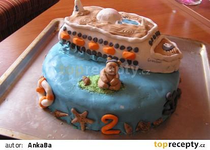 Narozeninový dort - loď