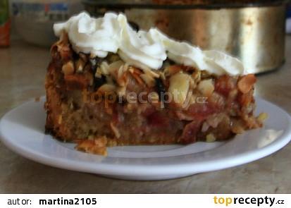Švestkový koláč s drobenkou a mandlemi