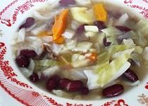 Vánoční fazolová polévka