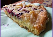 Litý koláč s ovocem a drobenkou-DIA verze