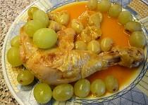 Marinované  kuřecí s hroznem (i pro diabetiky)
