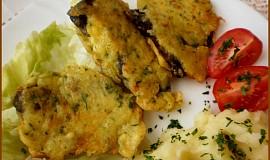 Smažené plíčky v sýrovo-bylinkovém těstíčku