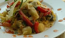 Smetanové gnocchi v zelenině