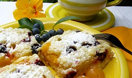 Špendlíkový koláč s borůvkami (bez vajec)