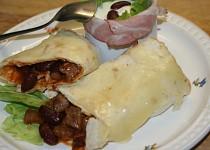 Zapečené tortilly s pikantním hovězím a červenými fazolemi