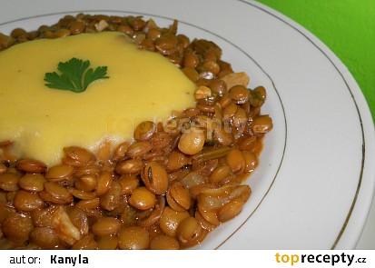 Čočková polévka s dýňovo-kokosovou smetanou