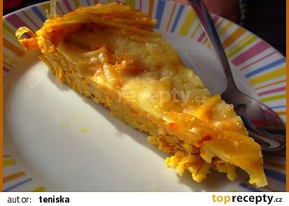 Dýňový koláč se špagetami