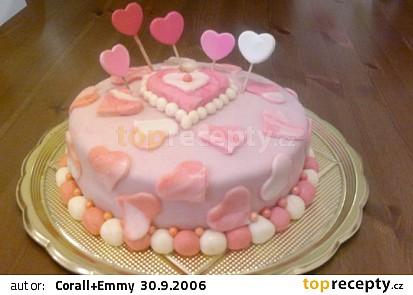 Emmy- první potahovaný dort