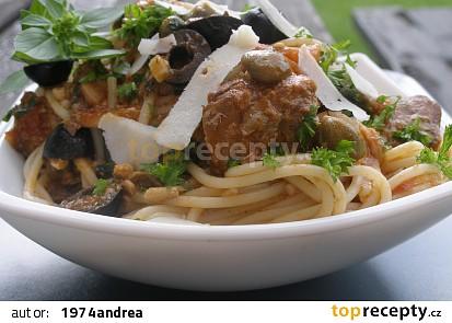 Rychlošpagety se sardinkami a uzenými mušlemi