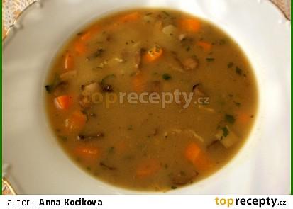 Sváteční hříbková  polévka