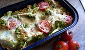 Zapečená brokolice s těstovinami