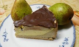 Hruškový dortík s čokoládovou polevou