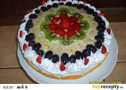 Jednoduchý šlehačkový dort