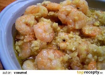 Krevety na zázvoru a česneku