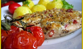 Kuřecí plátky s tatarkovo-sýrovou čepičkou