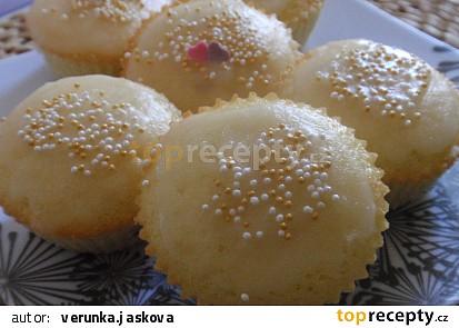 Malinové muffiny s citronovou polevou