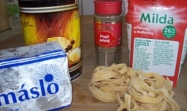 Máslovo-smetanové nudle