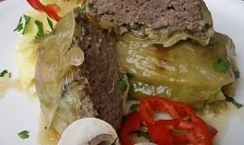 Mletý steak v zelném listu