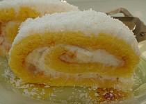 Roláda  žlutobílá  s třepacím krémem