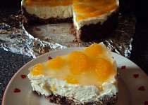 Tvarohovo-čokoládový dort s mandarinkami