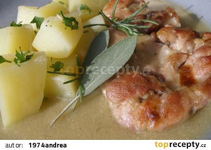 Kuřecí s bylinkovo česnekovou omáčkou