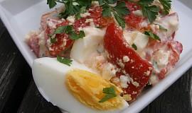 Salát z pečených paprik s jogurtem