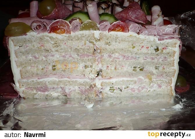 slaný dort k narozeninám Slaný dort (k narozeninám) recept   TopRecepty.cz slaný dort k narozeninám