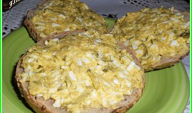 Vajíčkovo-okurkovo-hořčicová pomazánka