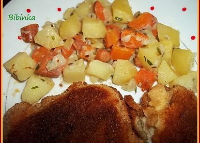 Dobré brambory s indickým kořením a mrkví