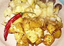 Dýně a brambory zapečené se sýrem