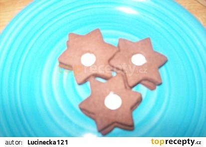 Kakaové hvězdičky s krémem