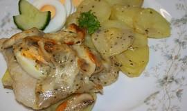 Pečená ryba ve smetanové omáčce