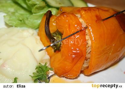 Plněné pečené papričky