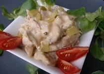 Salát z grilovaného nebo pečeného kuřete