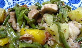 Smažená zelenina s bramborami