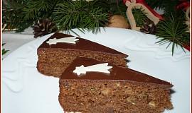 Vánoční perníkový dort