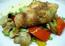 Candát v majonéze s pečenou zeleninou