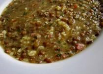 Čočková polévka s noky a uzeným