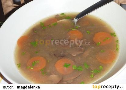 Čočkovo houbová polévka