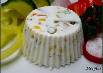 Dietní tvarohové bábovičky se zeleninou - nepečené