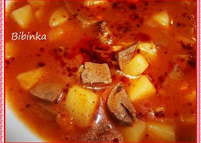 Dobrá srdcová polévka-detail...