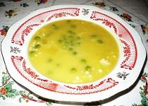Dýňová polévka s hráškem