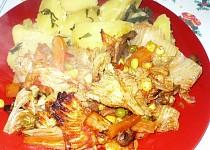Jehněčí vnitřnosti na zelenině