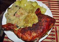 Kadlíkovo kuře na cibuli