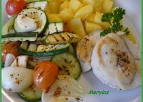 Rybí filé s bramborem a grilovanou zeleninou