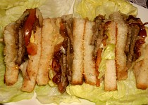 Steakový  sendvič