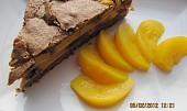 Broskvovo - čokoládový koláč