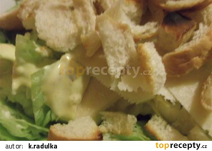 Dresing na salát- falešný na ceasar salát