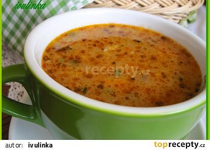 Kroupová polévka s hlívou